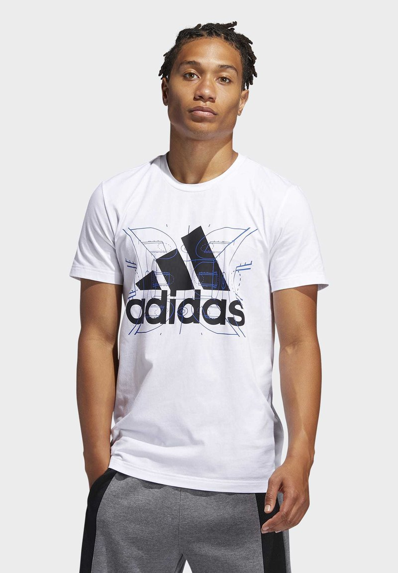 adidas Performance - FUTURE COURTS T-SHIRT - T-shirts med print - white