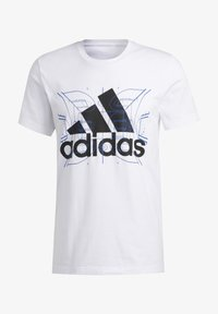 adidas Performance - FUTURE COURTS T-SHIRT - T-shirts med print - white - 6