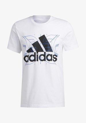 FUTURE COURTS T-SHIRT - T-shirt imprimé - white