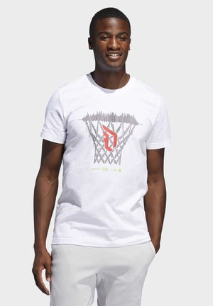DAME  - T-shirt z nadrukiem - white