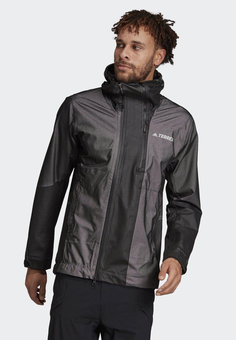 adidas Performance - TERREX PRIMEKNIT RAIN JACKET - Waterproof jacket - black
