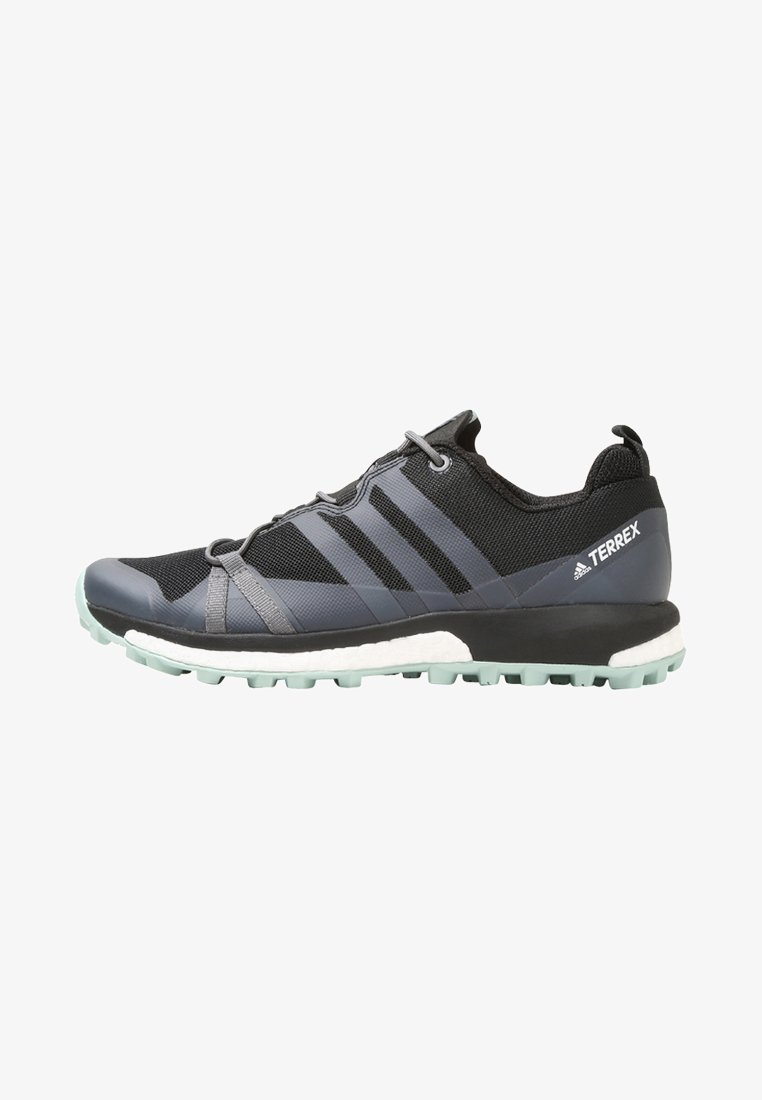 adidas Performance - TERREX AGRAVIC W - Hikingschuh - core black/grey heather/ash green