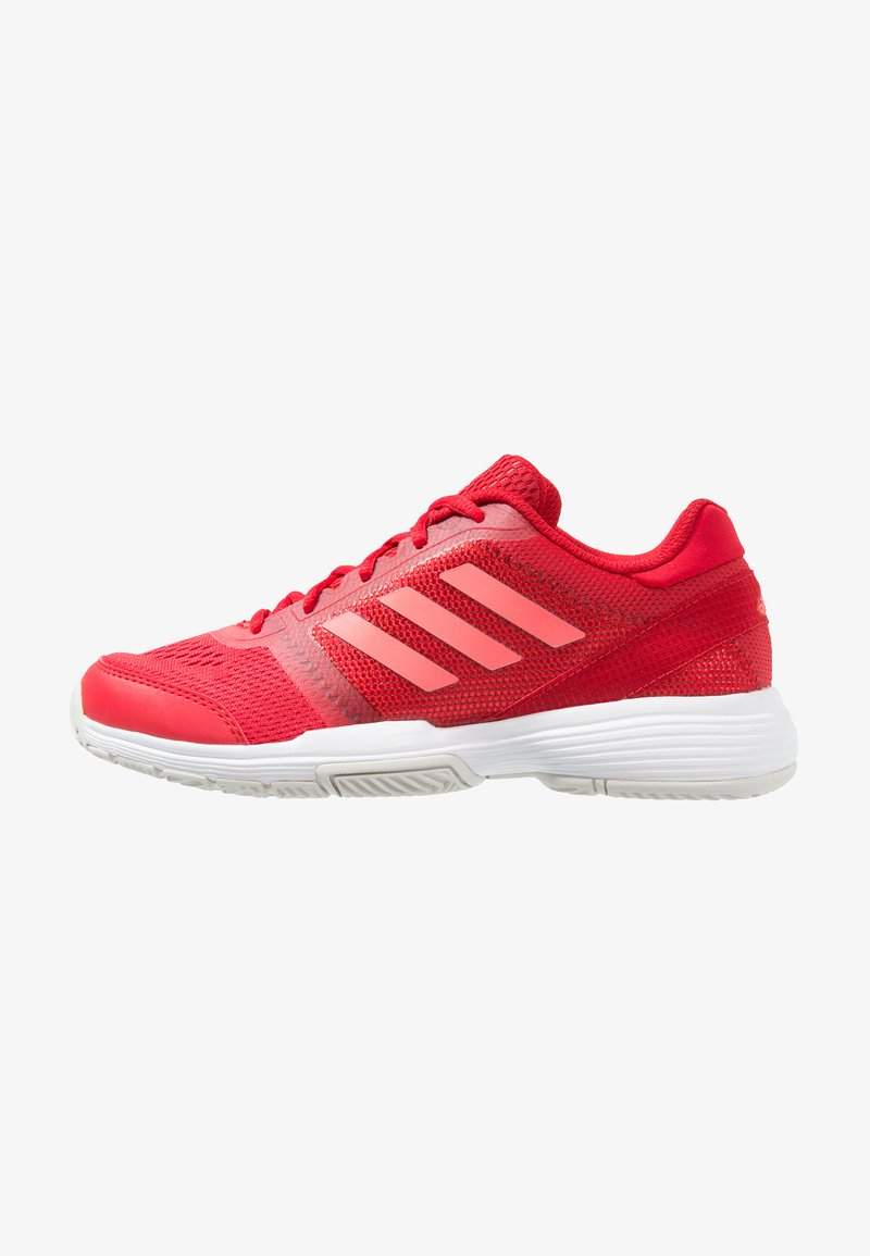 adidas Performance - BARRICADE CLUB - Tenisové boty na antuku - scarlet/flash red/footwear white