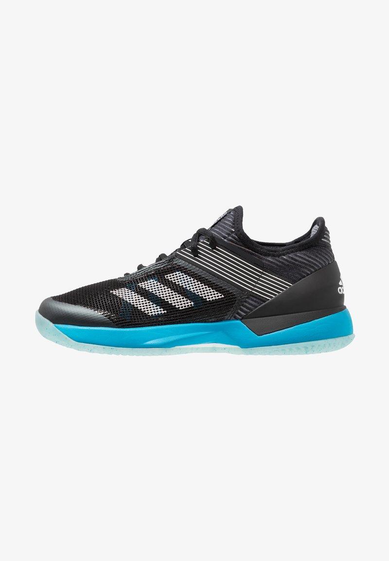 adidas Performance - ADIZERO UBERSONIC 3 CLAY - da tennis per terra battuta - core black/footwear white/shock cyan