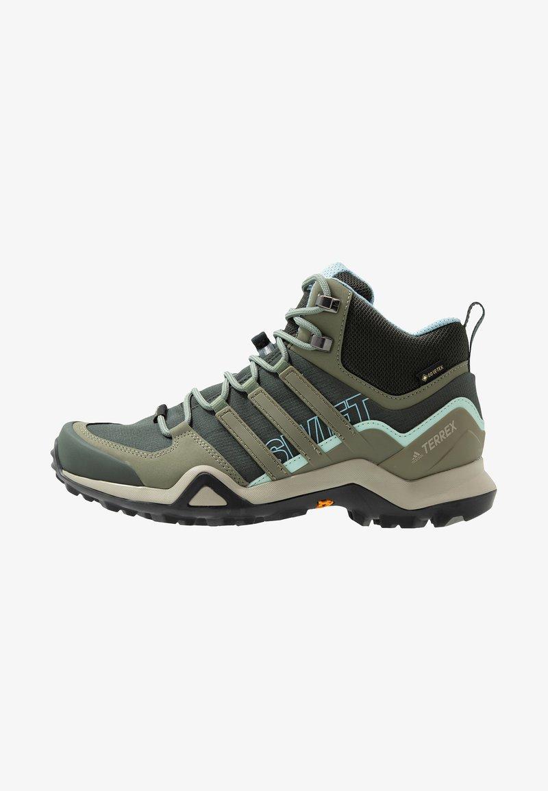 adidas Performance - TERREX SWIFT R2 MID GORE-TEX - Hiking shoes - legend erath/legend green/ash grey