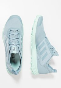 adidas Performance - TERREX SPEED - Trail running shoes - ash grey/clear mint - 1