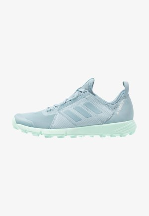 TERREX SPEED - Trail running shoes - ash grey/clear mint