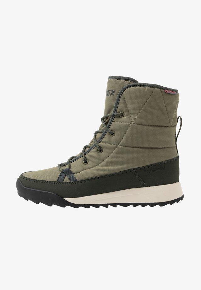 TERREX CHOLEAH PADDED CLIMAPROOF HIKING SHOES - Hiking shoes - raw khaki/legend earth/semi coral