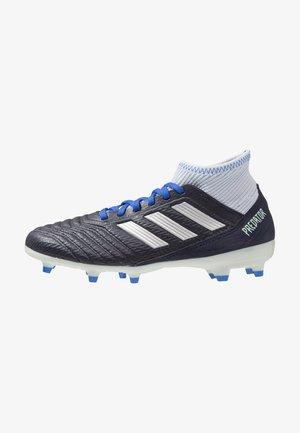 PREDATOR 18.3 FG - Botas de fútbol con tacos - legend ink/silver metallic/aero blue