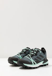 adidas Performance - TERREX SKYCHASER LT GORE TEX HIKING SHOES - Hiking shoes - ash grey/core black/clear mint - 2
