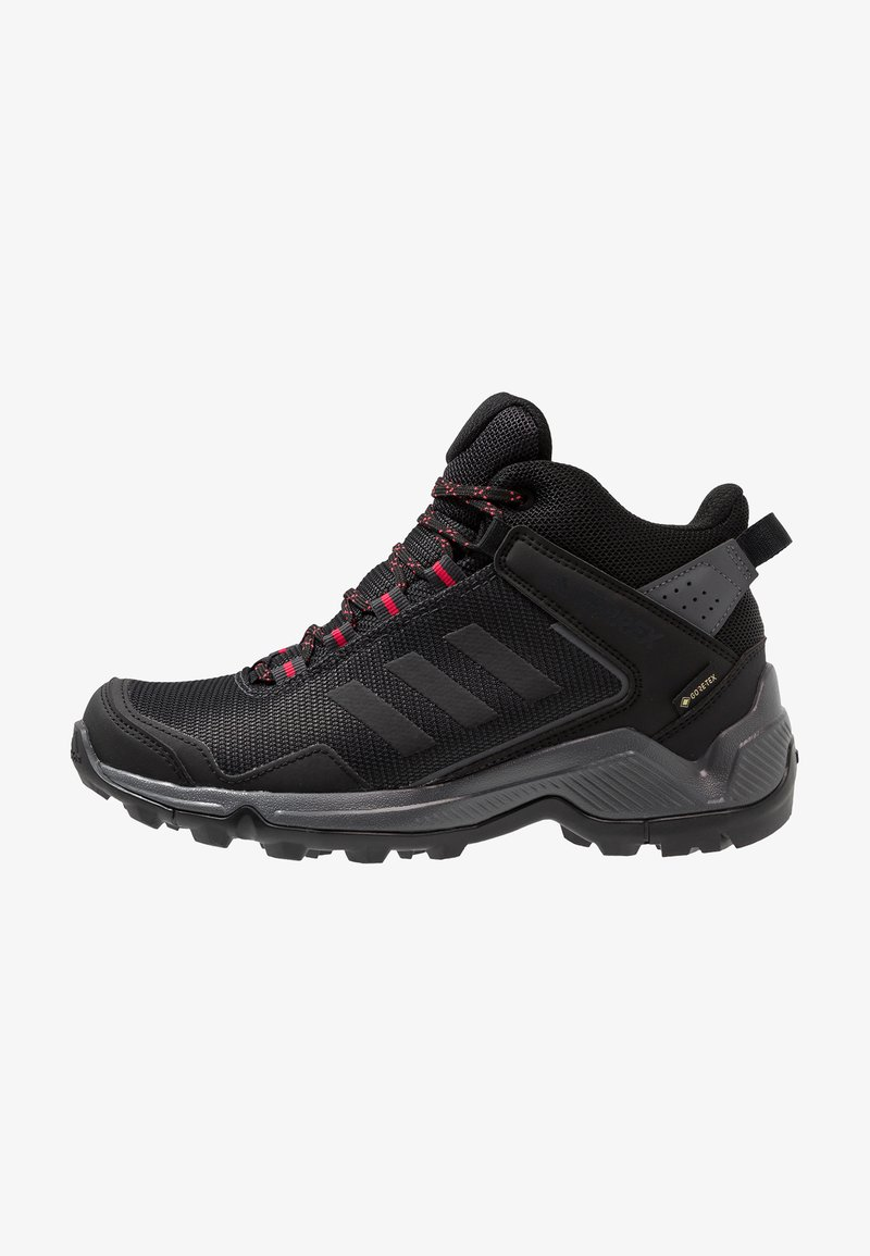 adidas Performance - TERREX EASTRAIL MID GORE-TEX - Chaussures de marche - carbon/core black/active pink