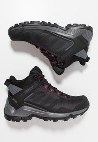adidas Performance - TERREX EASTRAIL MID GORE-TEX - Chaussures de marche - carbon/core black/active pink - 1