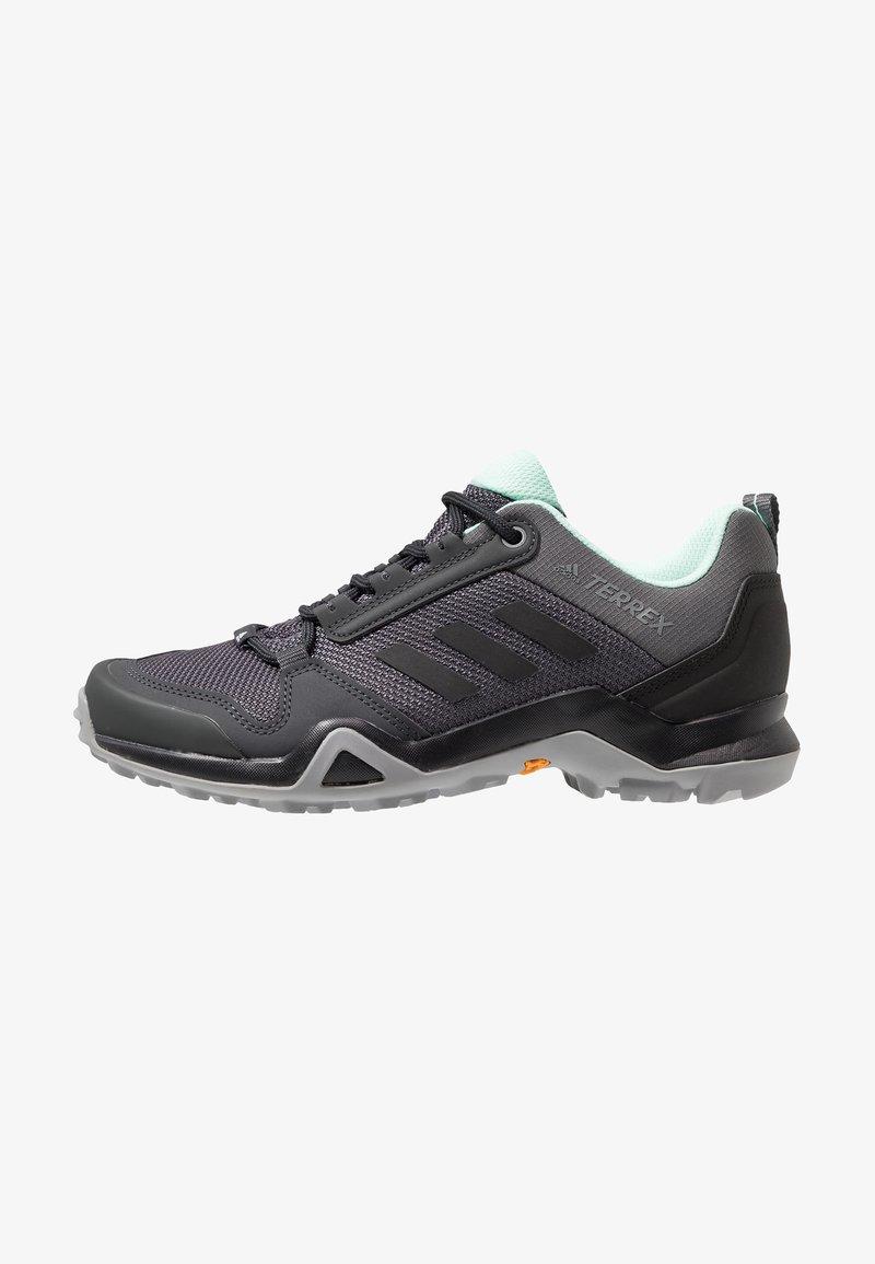 adidas Performance - TERREX AX3 HIKING SHOES - Obuwie hikingowe - grey five/clear black/clear mint