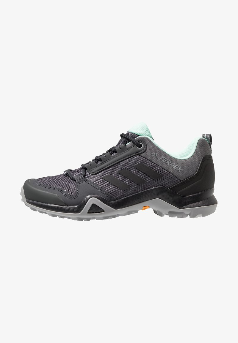 adidas Performance - TERREX AX3 HIKING SHOES - Zapatillas de senderismo - grey five/clear black/clear mint