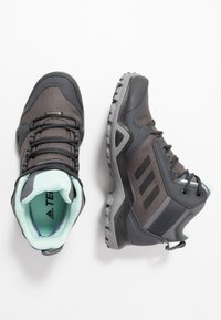 adidas Performance - TERREX AX3 MID GORE-TEX - Hiking shoes - grey five/core black/clear mint - 1