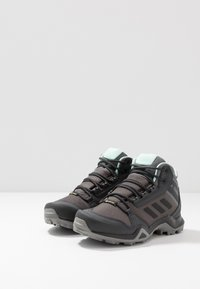 adidas Performance - TERREX AX3 MID GORE-TEX - Hiking shoes - grey five/core black/clear mint - 2