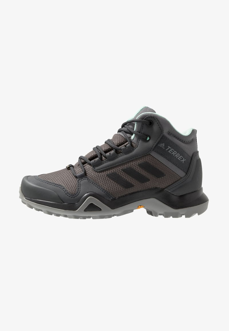 adidas Performance - TERREX AX3 MID GORE TEX HIKING SHOES - Hikingschuh - grey five/core black/clear mint