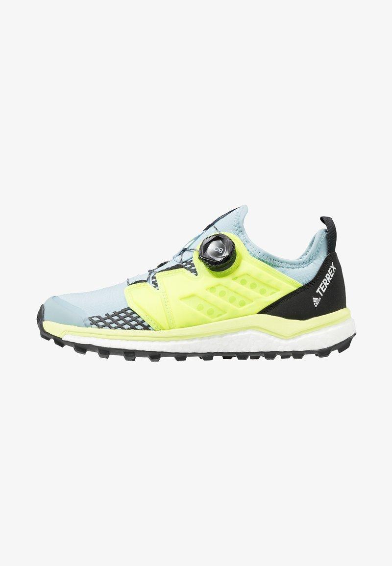 adidas Performance - TERREX AGRAVIC BOA TRAIL RUNNING SHOES - Zapatillas de trail running - ash grey/solar yellow/core black