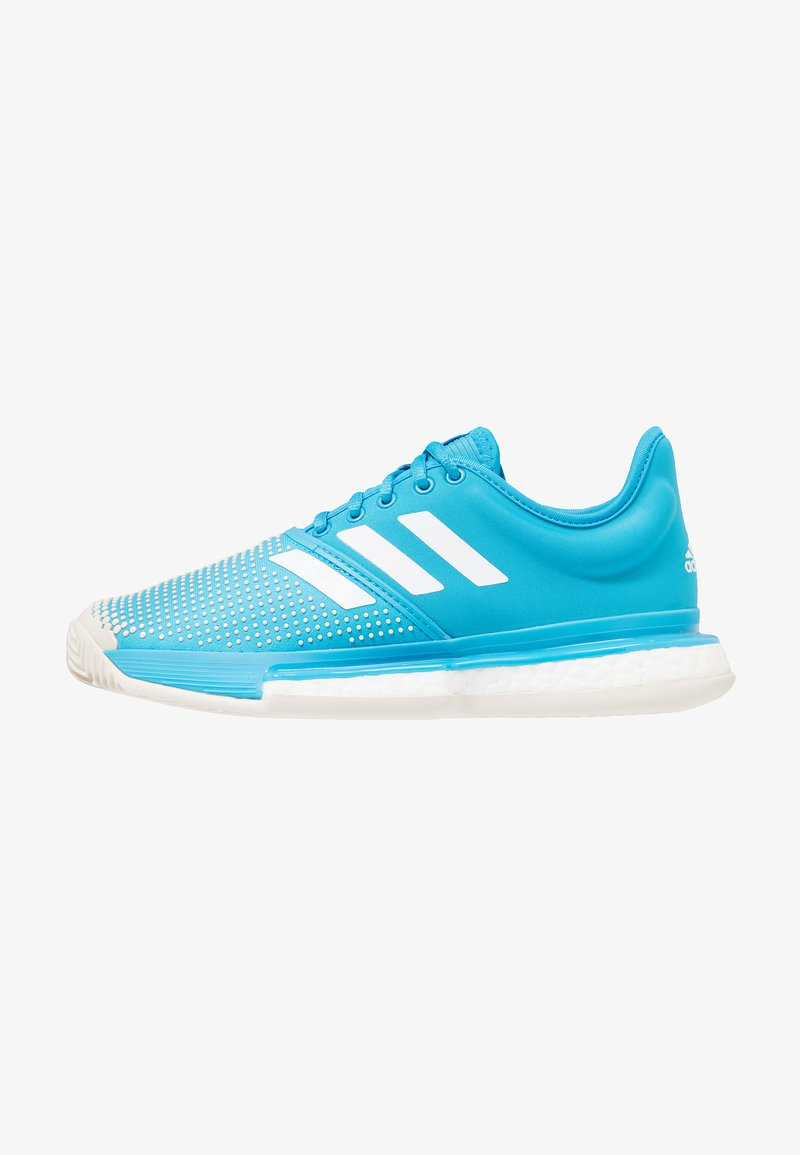 adidas Performance - SOLECOURT BOOST CLAY - Tennisschuh für Sandplätze - shock cyan/footwear white/raw white