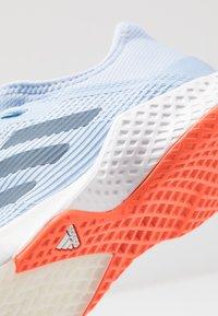 adidas Performance - ADIZERO CLUB - Clay court tennis shoes - glow blue/tech ink/hi-res coral - 5