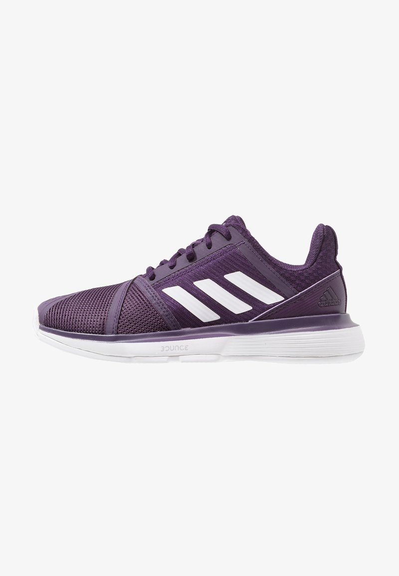 adidas Performance - COURTJAM BOUNCE - Multicourt Tennisschuh - legend purple/footwear white/matte silver