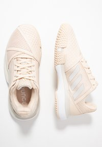 adidas Performance - COURTJAM BOUNCE - Multicourt tennis shoes - grey one/footwear white - 1