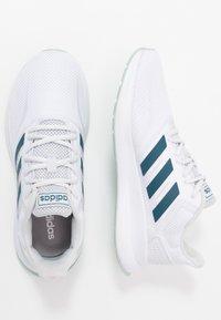 adidas Performance - RUNFALCON - Zapatillas de running neutras - footwear white/tech mint/dash grey - 1