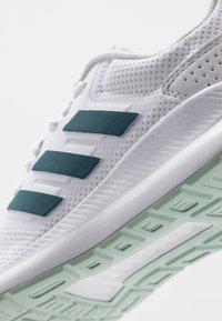 adidas Performance - RUNFALCON - Zapatillas de running neutras - footwear white/tech mint/dash grey - 5