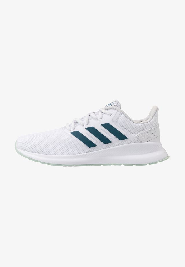 RUNFALCON - Zapatillas de running neutras - footwear white/tech mint/dash grey