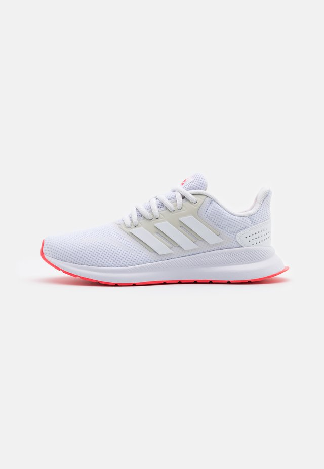 RUNFALCON - Neutral running shoes - footwear white/signal pink