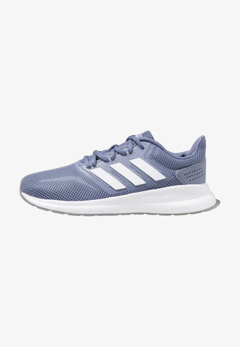 adidas Performance - RUNFALCON - Laufschuh Neutral - raw indigo/footwear white/grey three