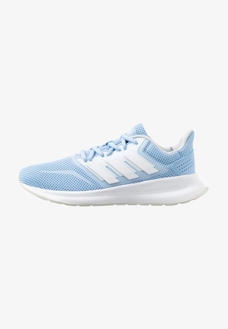 adidas Performance - RUNFALCON - Laufschuh Neutral - glow blue/footwear white/blue tint