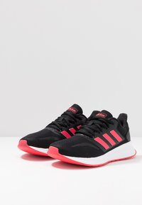 adidas Performance - RUNFALCON - Juoksukenkä/neutraalit - core black/shock red/footwear white - 2