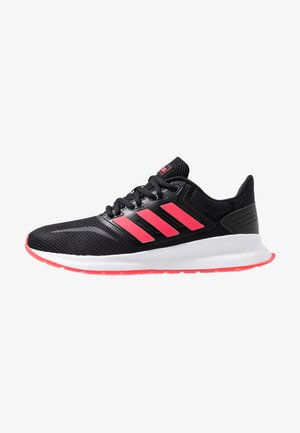 RUNFALCON - Neutral running shoes - core black/shock red/footwear white