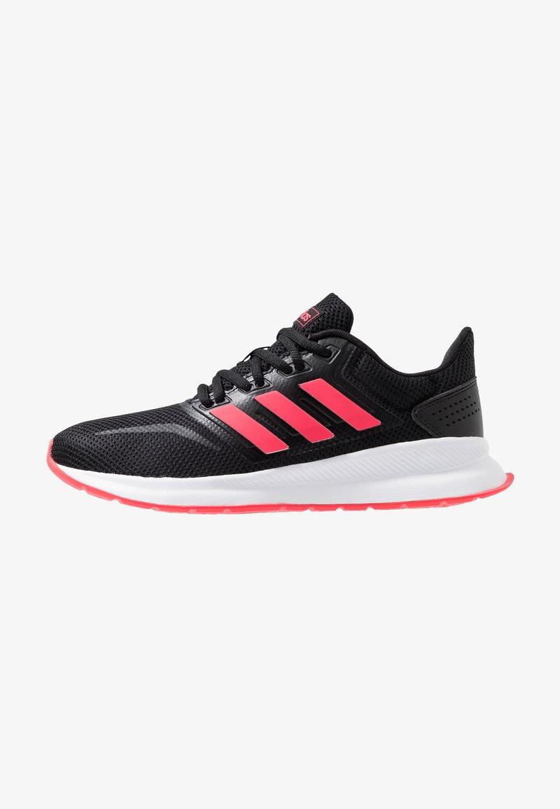 adidas Performance - RUNFALCON - Juoksukenkä/neutraalit - core black/shock red/footwear white