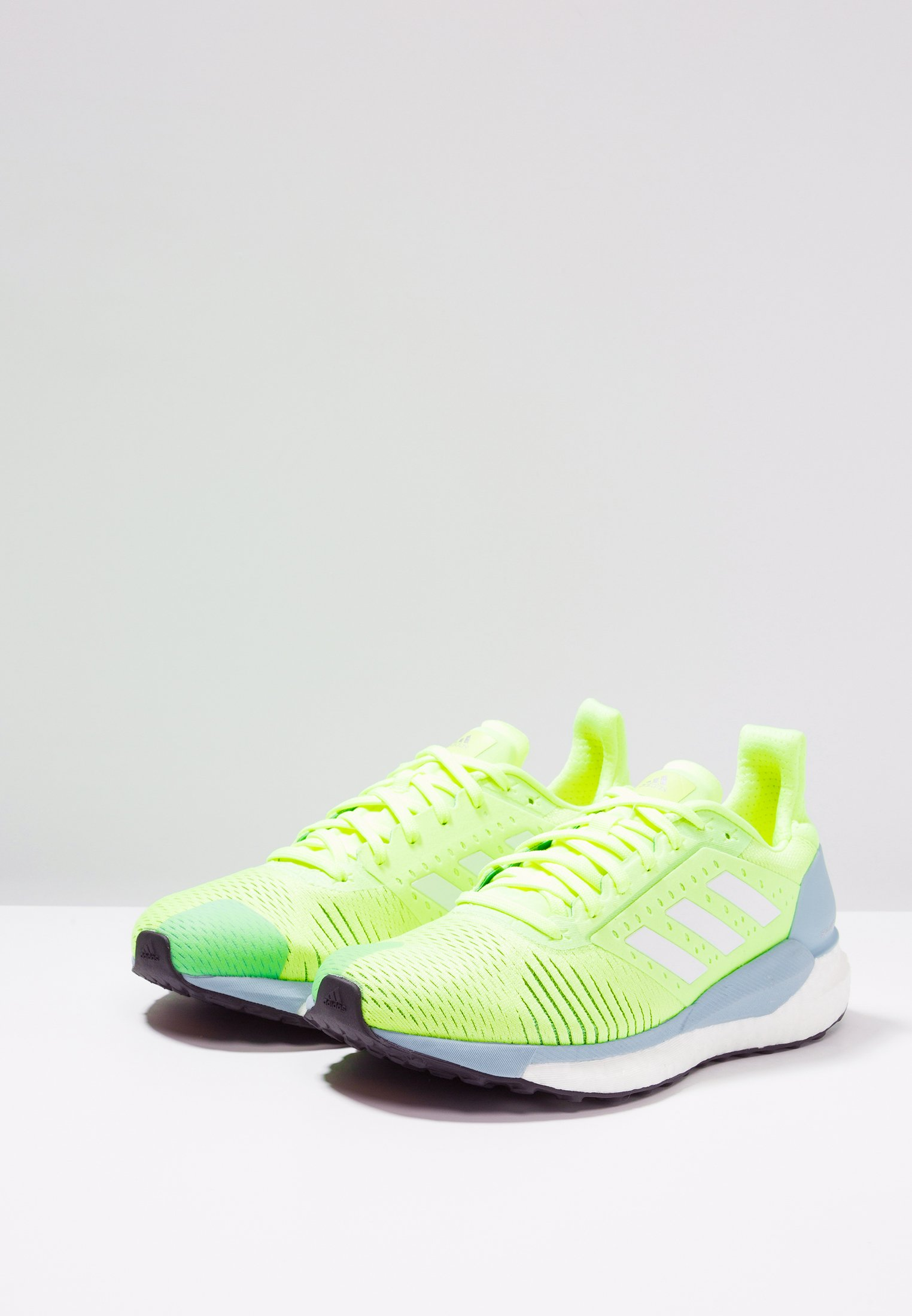 Adidas Performance Solar Glide St - Chaussures De Running Neutres Hi-res Yellow/footwear White/ash Grey
