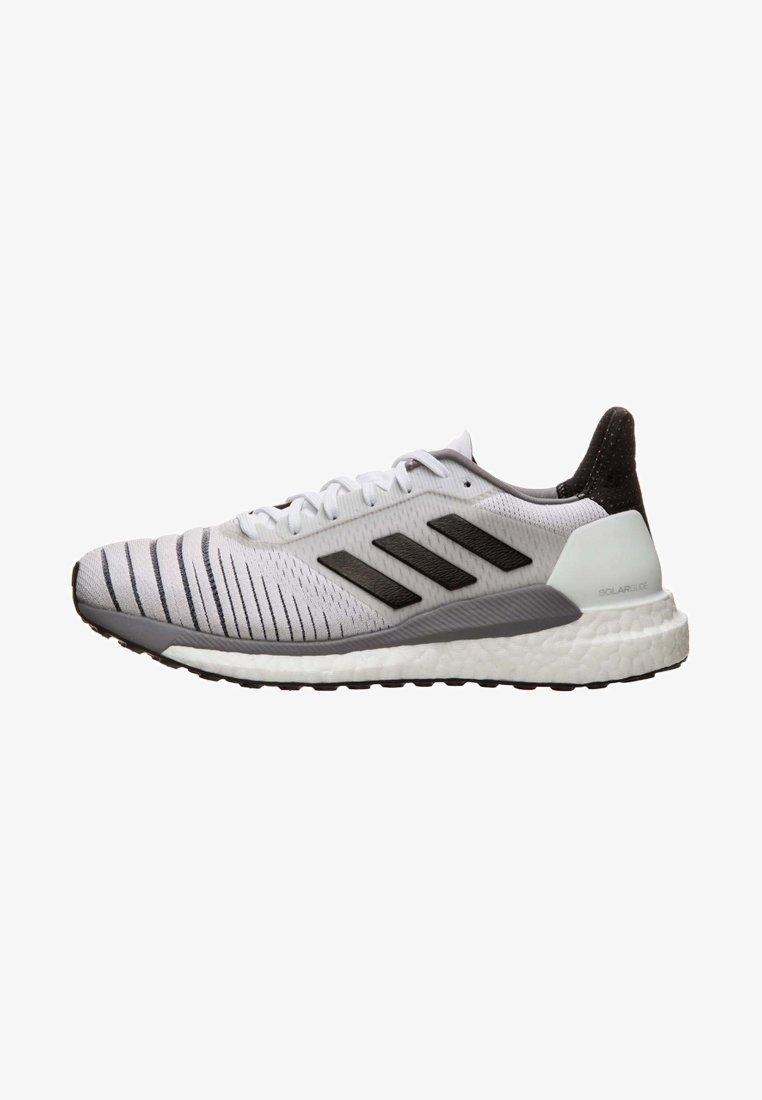 adidas Performance - SOLAR GLIDE W - Chaussures de running neutres - footwear white/core black/grey heather