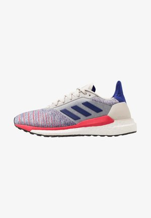 SOLAR GLIDE - Laufschuh Neutral - raw white/active blue/shock red