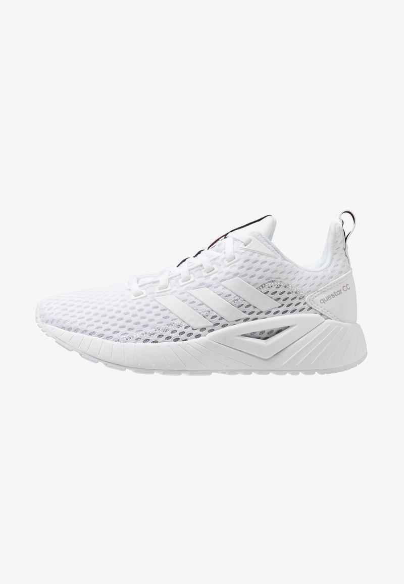 adidas Performance - QUESTAR CLIMACOOL - Obuwie do biegania treningowe - footwear white/grey two