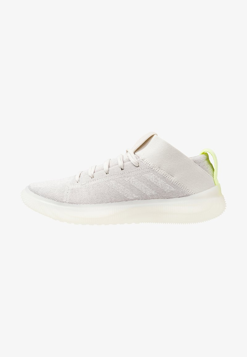 adidas Performance - PUREBOOST TRAINER - Laufschuh Neutral - raw white/footwear white/hi-res yellwo