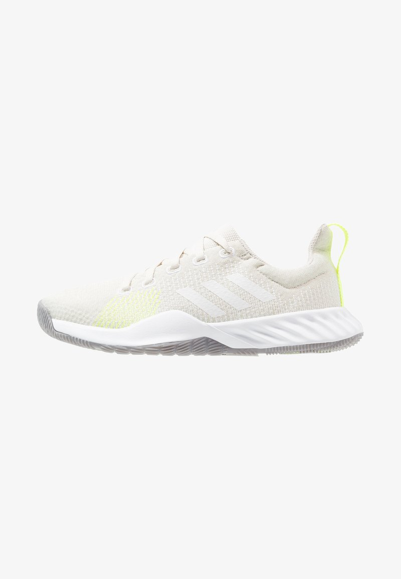 adidas Performance - SOLAR LT TRAINER - Hardloopschoenen neutraal - raw white/footwear white/hi-res yellow