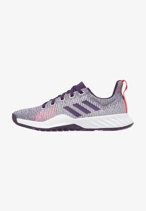 SOLAR LT TRAINER - Neutral running shoes - footwear white/legion purple/shock red