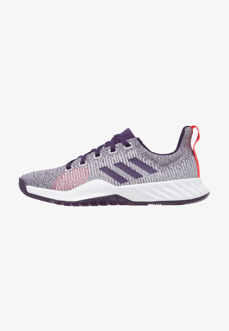 adidas Performance - SOLAR LT TRAINER - Neutral running shoes - footwear white/legion purple/shock red
