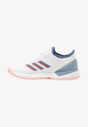 ADIZERO UBERSONIC 3 - Clay court tennis shoes - footwear white/tech ink/true orange