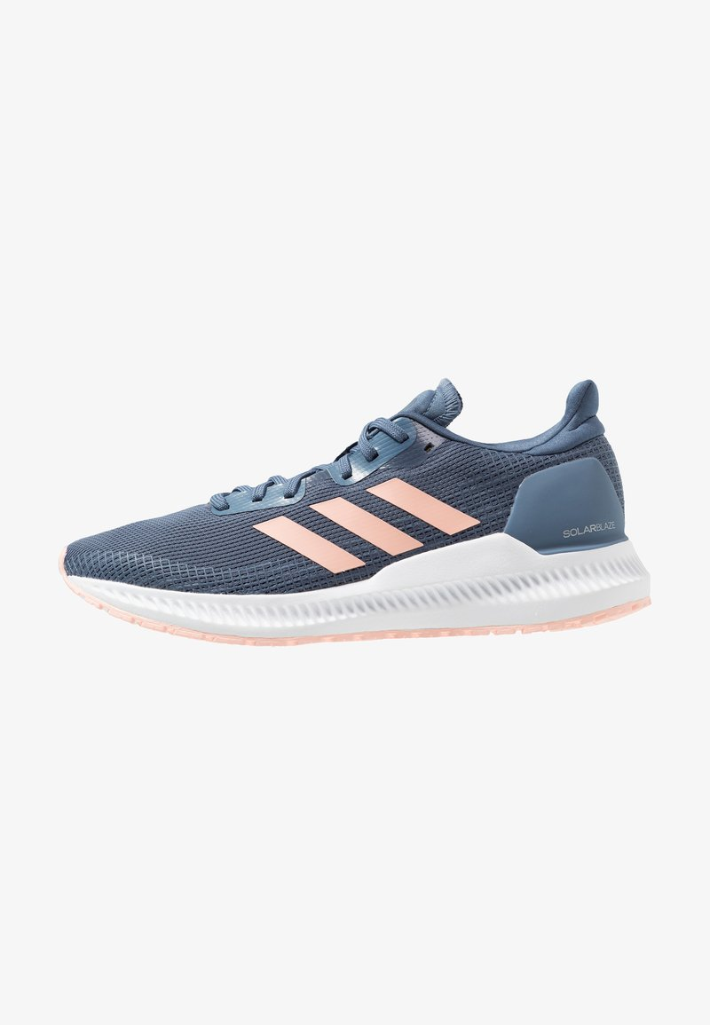 adidas Performance - SOLAR BLAZE - Neutral running shoes - tech ink/glow pink/collegiate navy