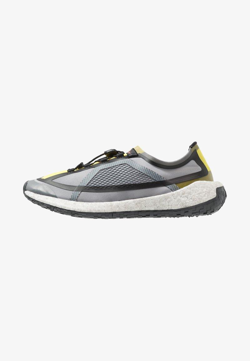 adidas by Stella McCartney - PUREBOOST HD SPORT RUNNING SHOES - Neutrální běžecké boty - iron metallic/vivid yellow/solar orange
