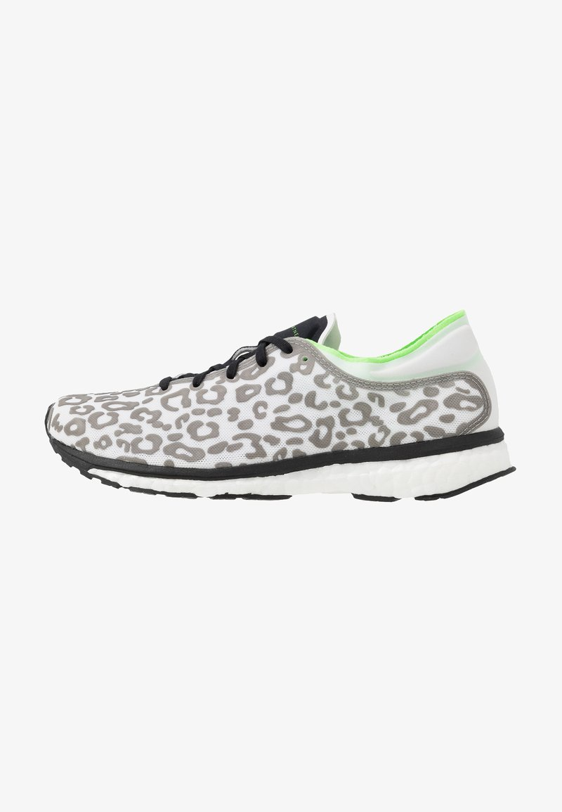 adidas by Stella McCartney - ADIZERO ADIOS PRINT SPORT RUNNING SHOES - Neutral running shoes - core black/solar green/cream white