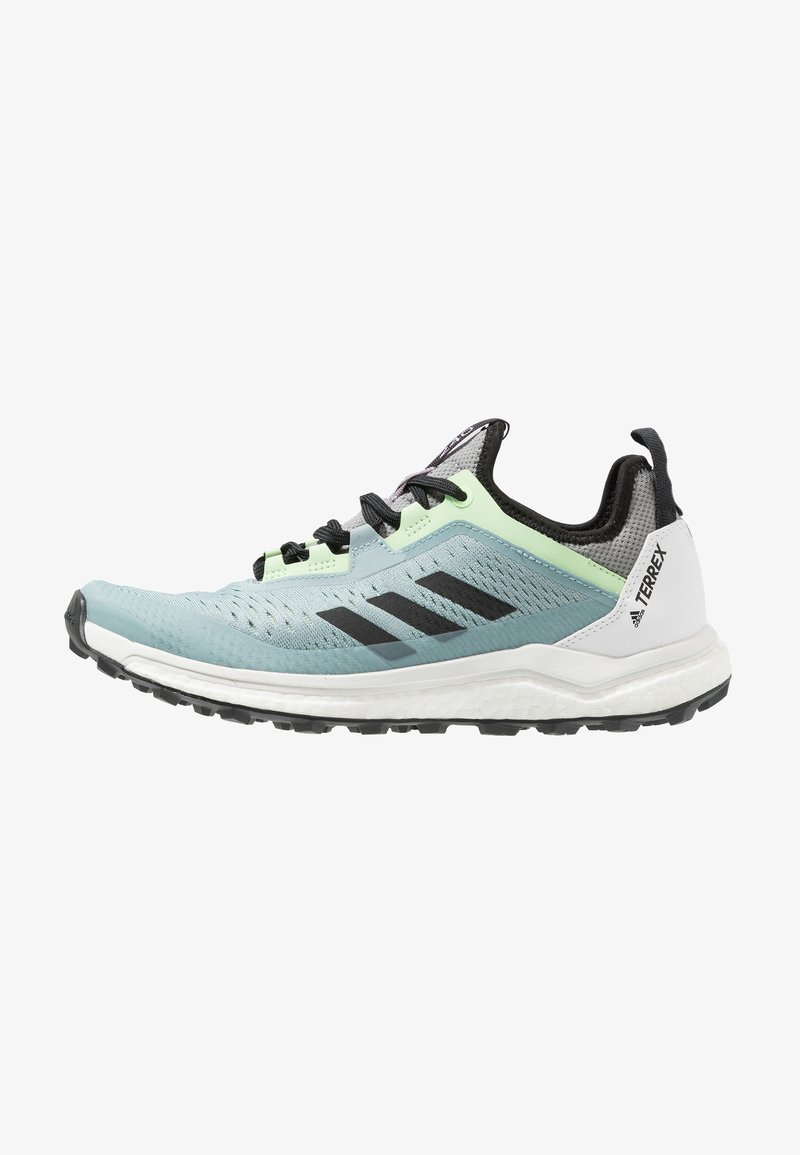 adidas Performance - TERREX AGRAVIC FLOW TRAIL RUNNING SHOES - Vaelluskengät - ash grey/core black/glow green