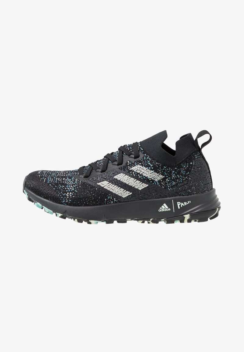 adidas Performance - TERREX TWO PARLEY TRAIL RUNNING SHOES - Trail running shoes - core black/linen green/carbon