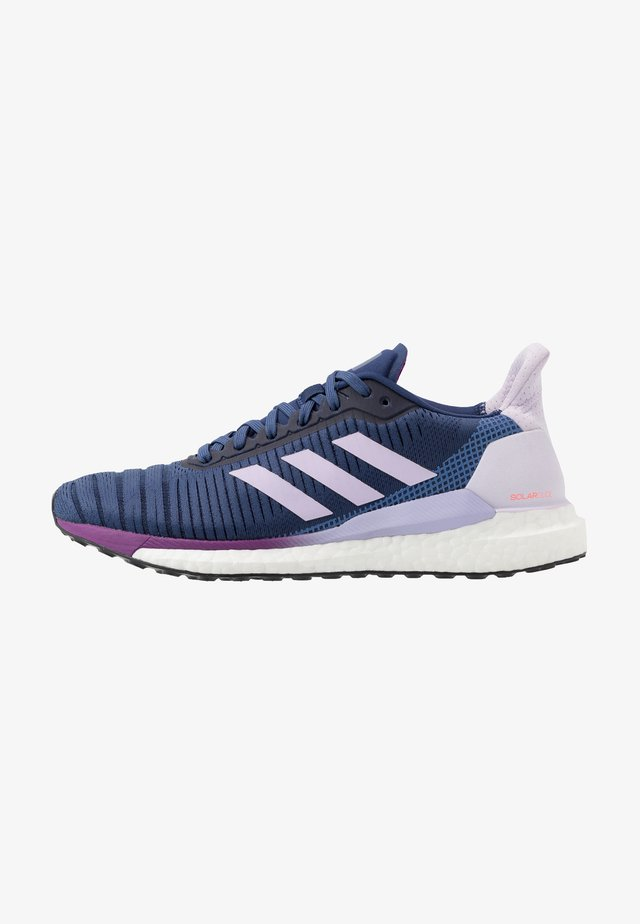 SOLAR GLIDE 19 - Neutral running shoes - tech indigo/footwear white/purple tint